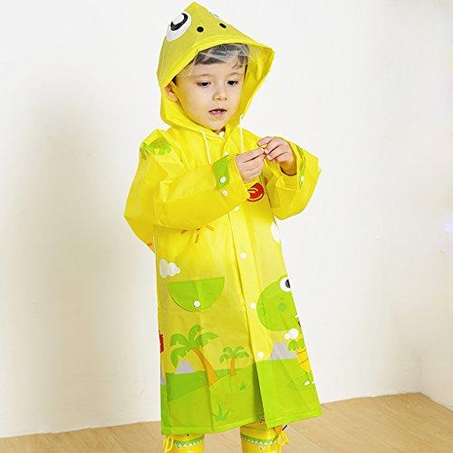 Children Raincoat Kindergarten Pupils Environmental Protection EVA Odorless Boys and Girls with Hooded Raincoats Poncho