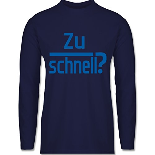 Laufsport - Zu schnell - Longsleeve / langärmeliges T-Shirt für Herren Navy Blau