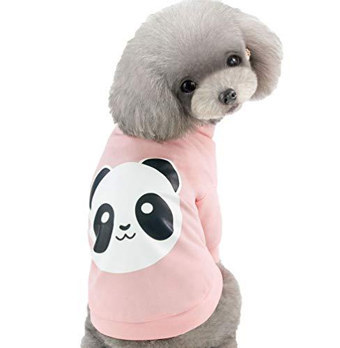 YiiJee Mode Kleidung für Haustiere mit Karikatur Muster Drucken Stilvolle Einfachheit Welpen Kostüm (Pink, - Einfachheit Kostüm Kleid Muster