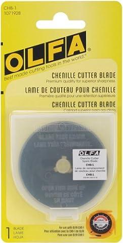 OLFA 1071928 CHB-1 Chenille Cutter Ultra Sharp Black Blade, 1-Pack