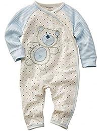 Baby Strampler Jungen 'Teddy blau' | Babystrampler langarm