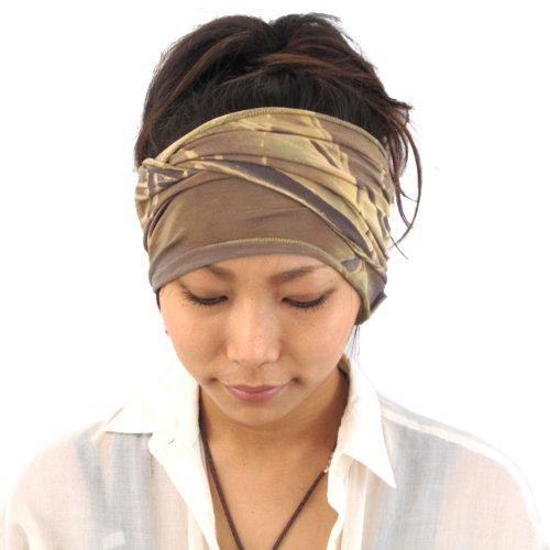 Kostüm Griechenland Moderne - Casualbox Herren elastisch Stirnband Headband Hand gefärbt Japanisch Bandana Marble Beige