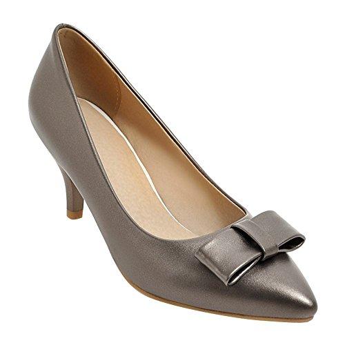 Mee Shoes Damen elegant high heels Geschlossen Pumps Taupe