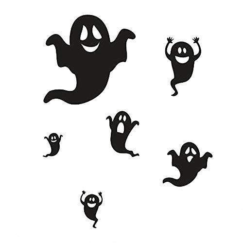 Tdhappy lustig Design schwarz Ghost Aufkleber Halloween Horror Aufkleber Kinder- ()