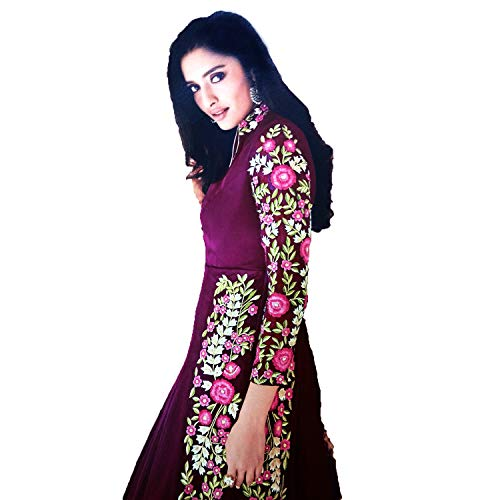 Fashion House Maroon Color Side Cut Heavy Stone Embroidery Desinger Suite