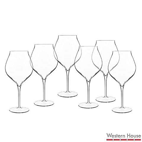 Luigi Bormioli 6 Pack Durable Sophisticated Elegant and Functional Vinea Lead-free Crystal Glass 800ml Wine Goblets