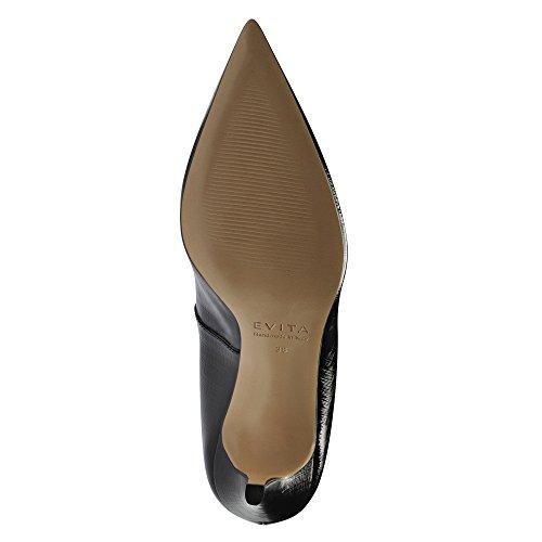 Jessica Nera Scarpe Vernice Stiletti Donna Evita In Stampato wP0U70trq