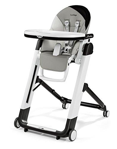 Peg Perego HSIXX2PAGR Design-Hochstuhl mit Baby-Liegefunktion, Siesta, palette grey