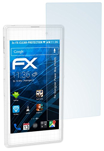 atFolix Schutzfolie kompatibel mit Energizer Power Max P490S Folie, ultraklare FX Bildschirmschutzfolie (3X)