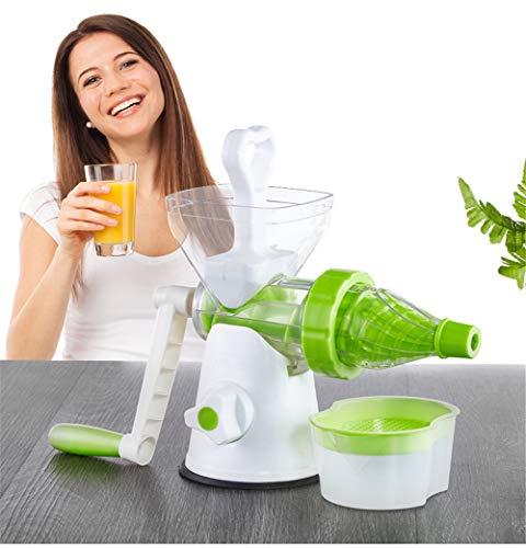 JoyFan The Original Healthy Entsafter – Manueller Entsafter – Kale, Spinat, Petersilie und andere Blattgrün! Mit Einem mastisierenden live-enzym Kaltpresseprozess