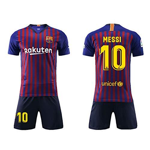 SEYE1 ° Sportanzug, Barcelona-Trikot, Nr. 10 Messi Fußball-Sportbekleidung, Fußball-Junge T-Shirt