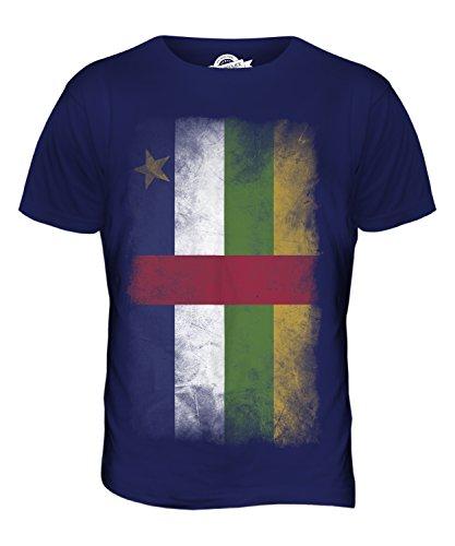 CandyMix Zentralafrikanische Republik Verblichen Flagge Herren T Shirt Navy Blau