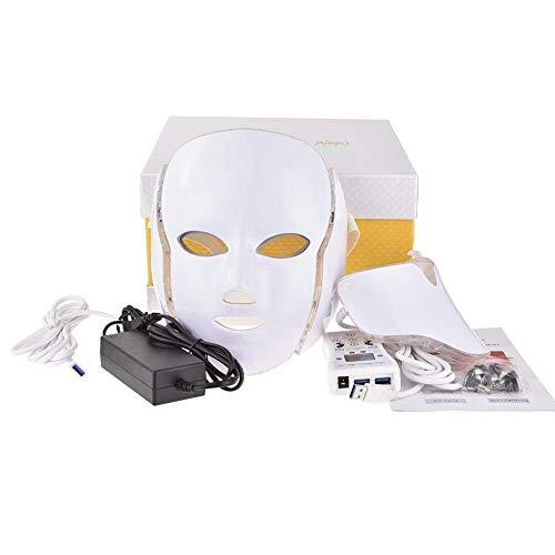 7 Farben LED Licht Photon Gesicht Hals Maske, Anti Akne Bleaching Reinigung Verjüngung Haut Therapie Falten Behandlung Schönheit