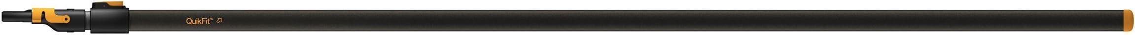 Fiskars Teleskop-Stiel für QuikFit Werkzeugköpfe, Länge 2,28 - 4 m, Aluminium, Schwarz/Orange, QuikFit, 1000665