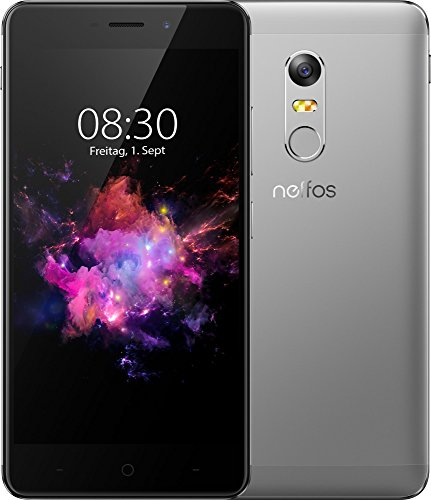 TP-Link Neffos X1 Max 4G LTE Smartphone, 5.5 Zoll FHD Display (13,97cm), 64GB Speicher, Octa-Core Prozessor, Schnellladefunktion, Android 7.0, cloudy grey, grau - Handys Lg Sim Entsperrt