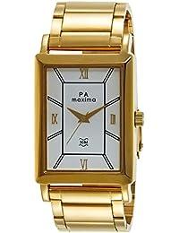 Maxima Analog White Dial Men's Watch - 40561CMGY