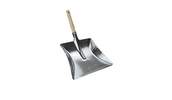 B/ÜMAG eG Kohleschaufel Metall verzinkt Holzgriff Ascheschaufel Metallschaufel Kehrschaufel