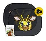 Sonnenschutz für Babys (Miraffe die Giraffe) | Auto Spielebroschüre für die ganze Familie | Mit UV - und Hitzeschutz | Universelle Größe (2Stk.)
