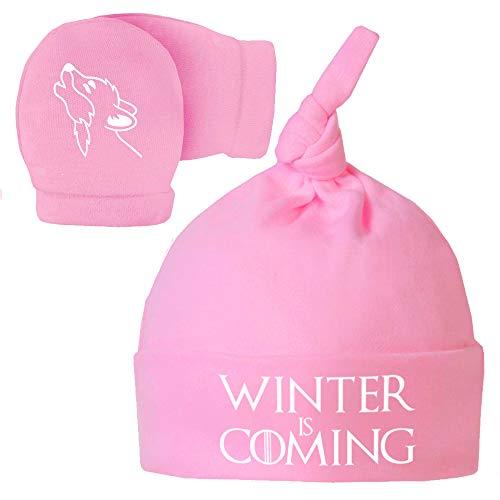 Pack Gorro Manoplas recién Nacido. Winter is Coming