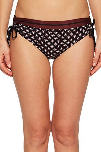 Kate Spade New York Women's Doheny Beach #77 Hipster Bikini Bottom w/Side Ties Black X-Small (Spade Hipster Kate)