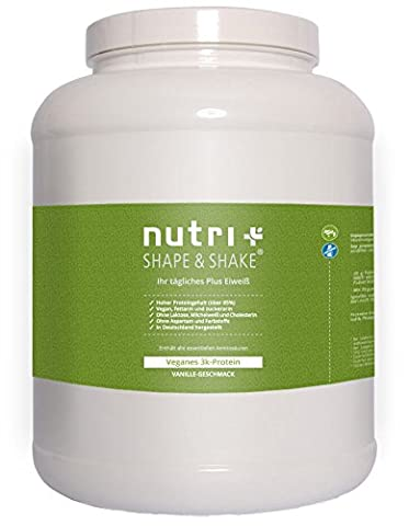 Nutri-Plus Shape & Shake Vegan Vanilla 2000g - Without aspartame, lactose, cholesterol and lactoprotein