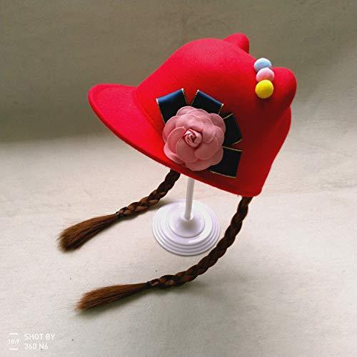 Frühling und Herbst Baby Perücke Hut Baby Baby Ente Zunge Hut Mädchen Zöpfe Baseball Cap 5 Prinzessin Pferdesport Hut 2-3-4 Jahre alt C Prinzessin Baseball