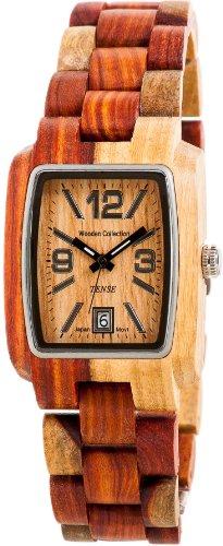 <strong>REDUZIERT:</strong> TENSE Mens Timber Premium Holzuhr - Natürliches Sandelholz