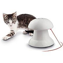 Juguete interactivo con luz giratoria automática, estimulador de entretenimiento, caza de ejercicio para gatos