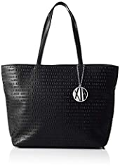 Idea Regalo - ARMANI EXCHANGE Womans Shopping - Borse Tote Donna, Nero (Black), 29.5x10x43 cm (B x H T)