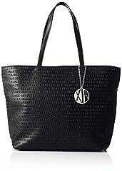 Idea Regalo - ARMANI EXCHANGE Womans Shopping - Borse Tote Donna, Nero (Black), 29.5x10x43 cm (B x H T)