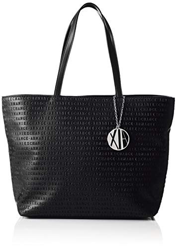 Armani Exchange Damen Womans Shopping Tote, Schwarz (Black), 29.5x10x43 cm