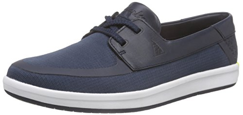 Clarks - Nautic Harbour, Scarpe stringate basse oxford Uomo Blu (Blue/Green)