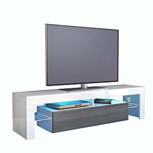 vladon tv schrank lowboard fernsehschrank fernsehtisch wohnzimmer lima korpus in wei front in. Black Bedroom Furniture Sets. Home Design Ideas