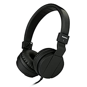 Sound Intone IP950 Stereo Folding Stretchable Headphones Adjustable Headband Headset Kids Earphones or Adults Lightweight Headsets With In-line Mic for Iphone/Ipad/Tablet/Andriod/Mp3/Mp4/Laptop(Black)
