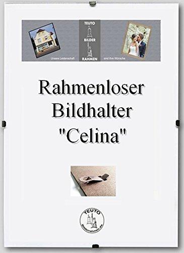 Rahmenloser Bildhalter Celina 32 x 45 cm schlicht elegant 45x32 cm mit Acrylglas Antireflex 1mm