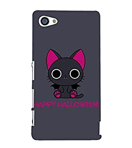 Kitty Happy Halloween 3D Hard Polycarbonate Designer Back Case Cover for Sony Xperia Z5 Compact :: Sony Xperia Z5 Mini