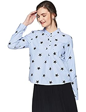 Only Onlamy L/S Star Shirt Wvn, Blusa Para Mujer
