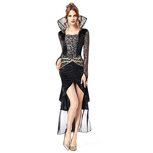 Langes Kleid Erwachsene Halloween Hexe Kostüm Weihnachten Karneval Kleidung Fantasia Infantil Kostüm Vampire Cosplay (Size : M) ()