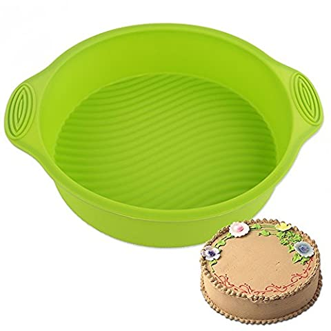 Runde scharfe Kuchen Brot Gebäck Silikon Form Pan Bakeware DIY Form (Wilton Kuchen Tin)