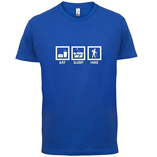 Eat Sleep Hike - Herren T-Shirt - 13 Farben Royalblau
