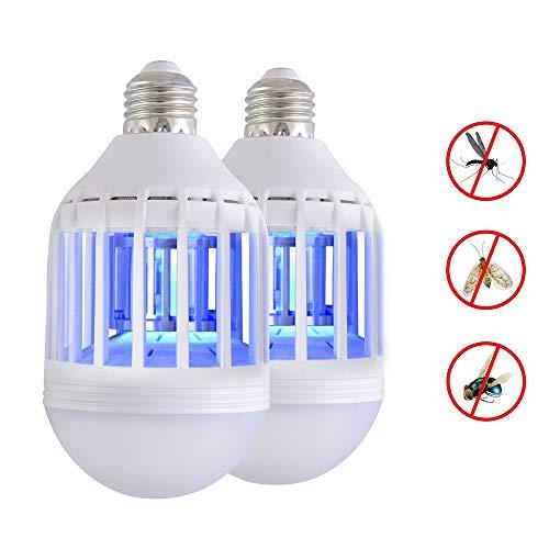 Mosquito Eliminator (2PCS LED Bug Zapper Glühbirne - Warmer weicher heller Indoor-Mückenmörder, Küchenfruchtfliegen Mörder, Mosquito Eliminator)