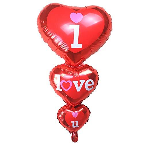 1 Globo de Helio con Forma de corazón para decoración de Bodas, cumpleaños y Fiestas de San Valentín