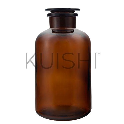 Ámbar troqueles con forma jarrón de estilo vintage de cristal marrón tarro por kuishi, vidrio, Amber, 1 litro