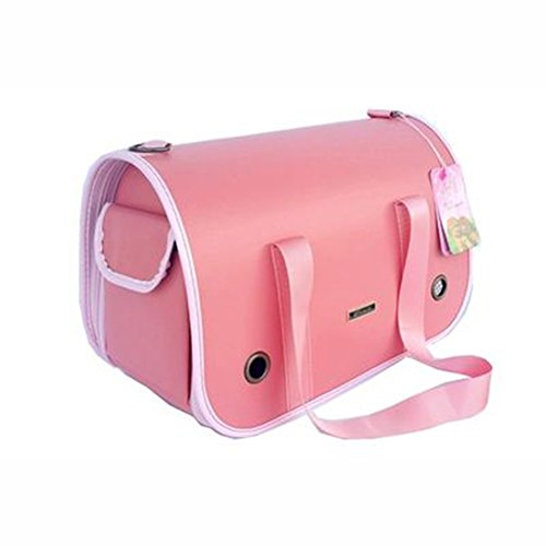 B-JOY travel Bag Crocodile vettore cane in pelle Pet Carrier Bag Pet borsa gatto del cane di borsa dellanimale domestico pieghevole rosa