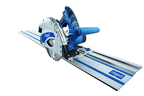 Scheppach 590 1802 915 160 mm Plunge Saw System with 2 x 700 mm 240 V Guide Rails And Rail Connector - Blue Test