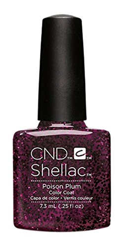 Opi-french Manicure (CND Shellac Poison Plum, 1er Pack (1 x 7 ml))