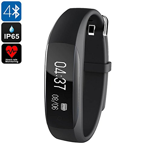 Generico Fitness Tracker Lenovo HW01- Bluetooth 4. 2, Heart Rate Monitor, Sleep Monitor, Pedometer, Call Reminder, IP65, 0. 91 Inch OLED