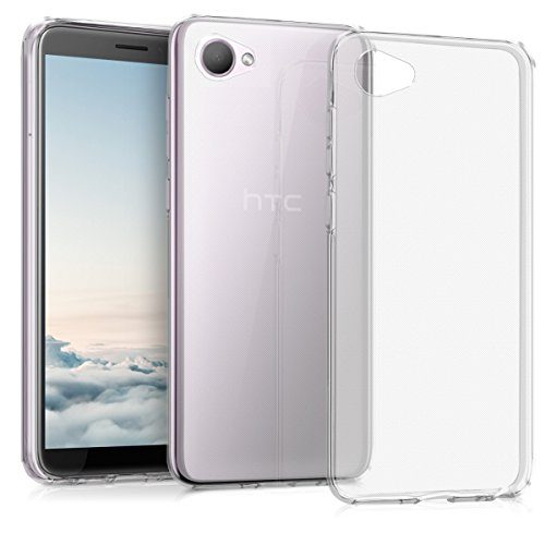 kwmobile Hülle für HTC Desire 12 - TPU Silikon Backcover Case Handy Schutzhülle - Cover klar Transparent
