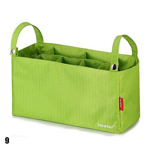 calistous Mummy Tasche Baby am Kinderwagen Aufhängen Innen Organizer Tasche Windel Schutzbezug Tasche grün grün
