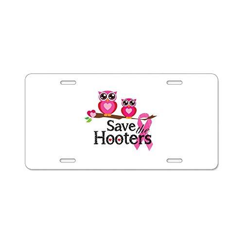 cafepress-save-the-hooters-aluminium-nummernschild-standard-mehrfarbig